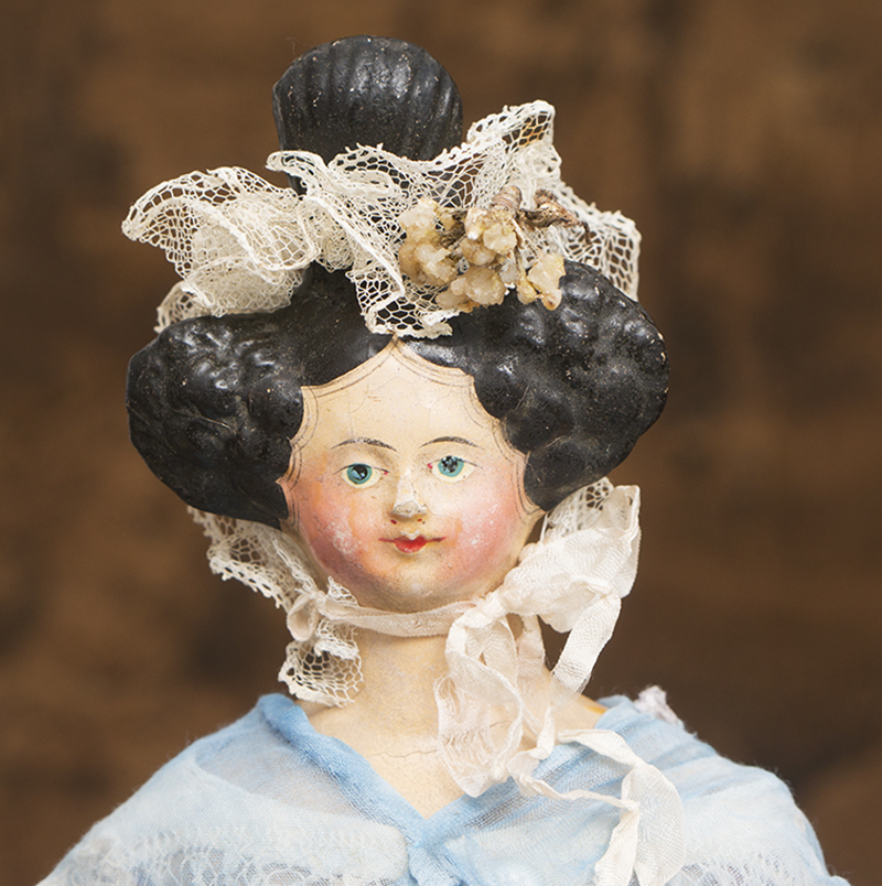 German Papier Mache Lady