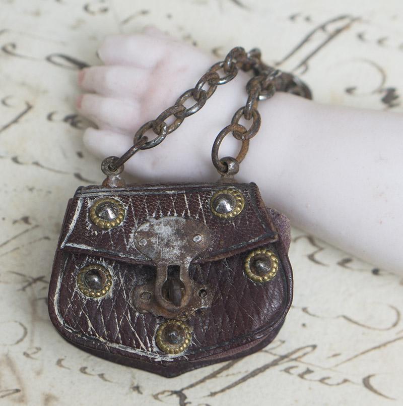 Редкая маленькая французская сумочка для модной куклы,1860е годы
