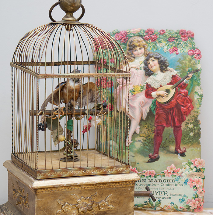 Antique French Automaton The BIRD w/CAGE