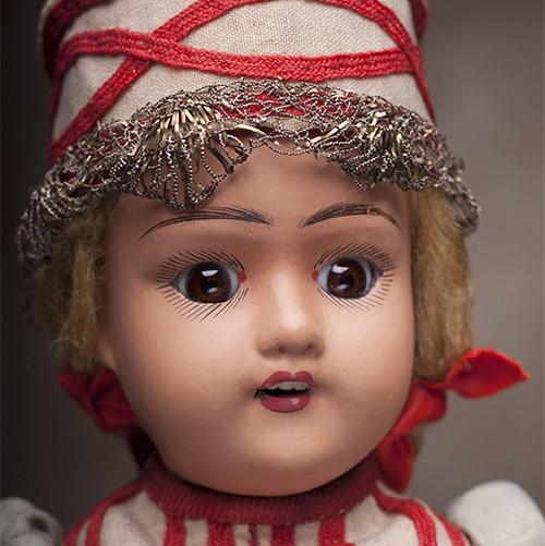 Редкая Русская кукла Дунаева, 1910-е годы