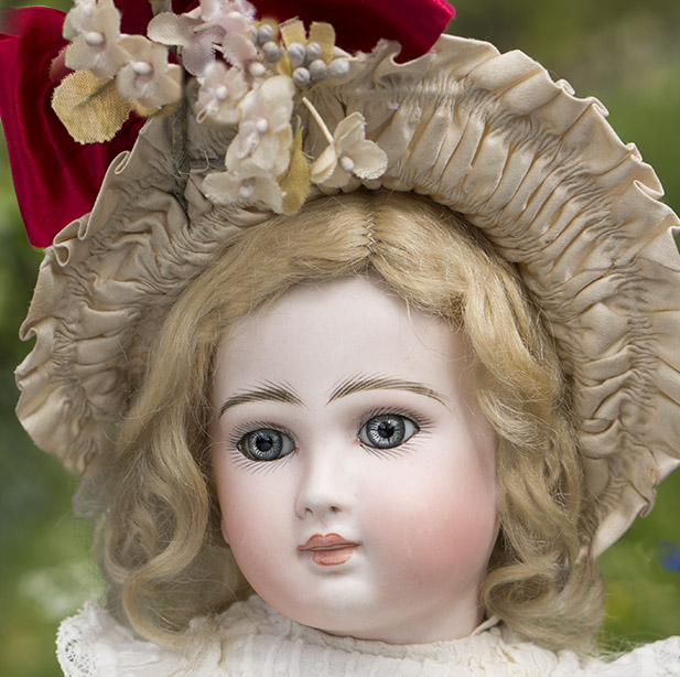 38 cm German Sonneberg Bisque Closed Mouth Doll