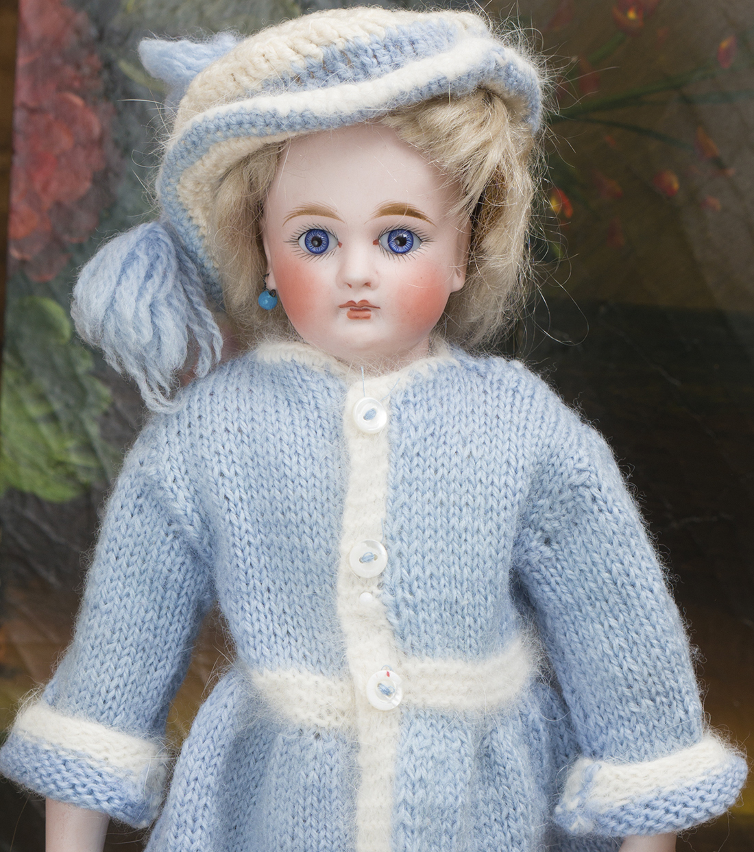 Vintage coat and hat for doll