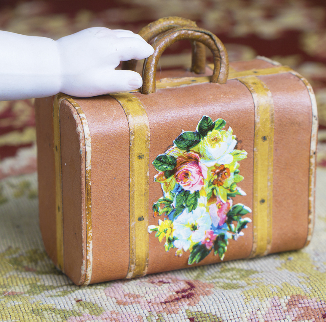 Antique doll travel bag
