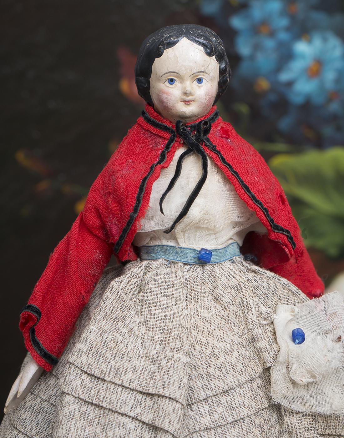 27см Кукла из папье-маше, 1840егоды