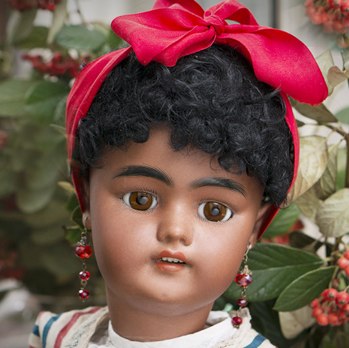 Antique German Mulatto doll 1078