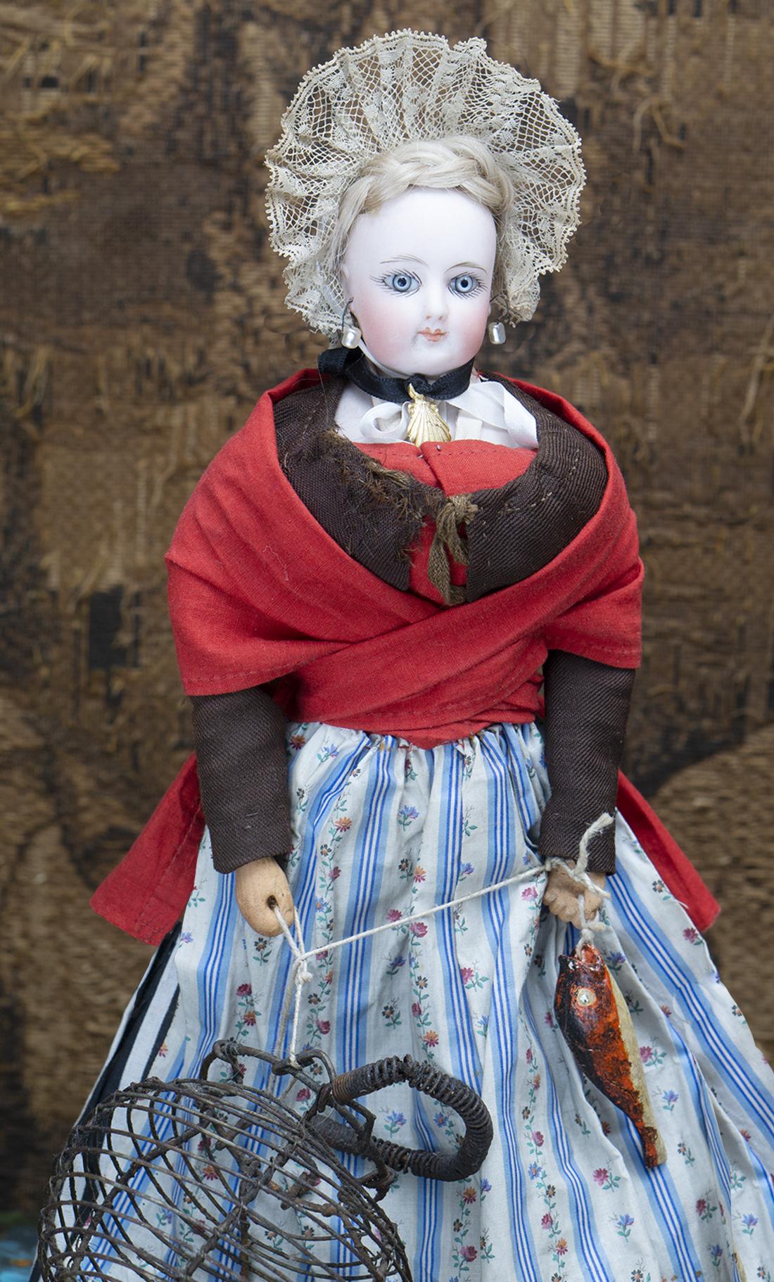 34cм Французская Модная Кукла Готье в оригинальном костюме рыбачки