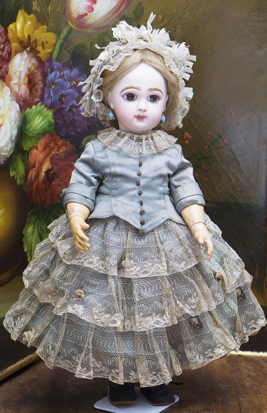 43 см Механическая шагающая кукла Jumeau, 1890е годы