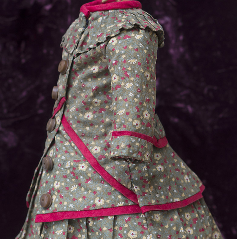 Antique Cotton Dress for doll