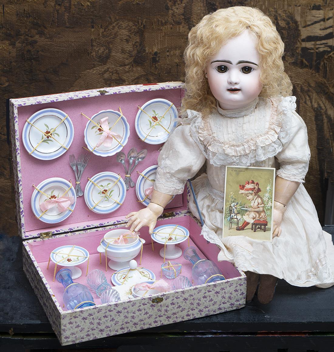 Оригинальный французский кукольный сервиз - Париж, 1890е годы