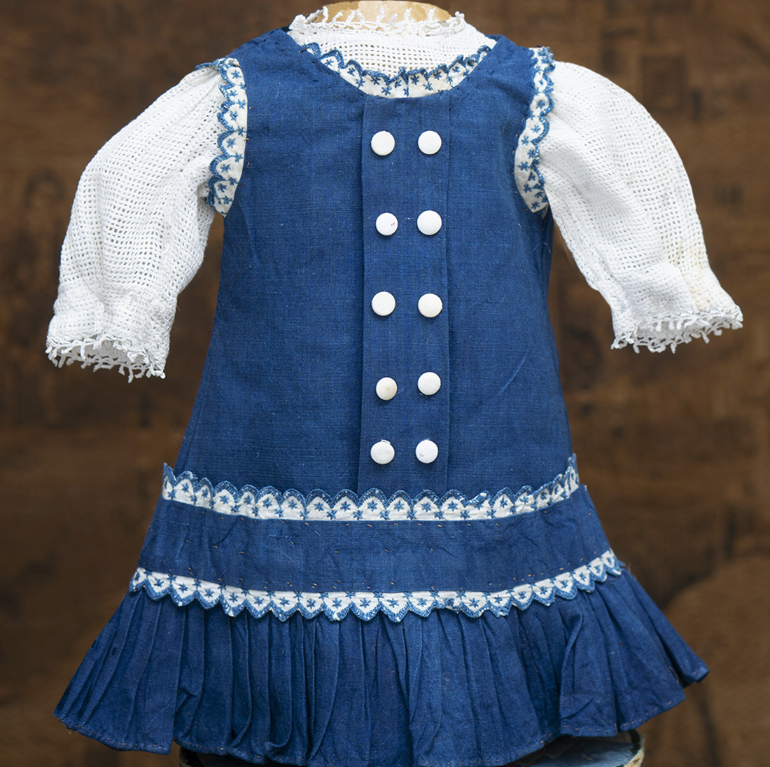 Antique Pinafore dress and blouse
