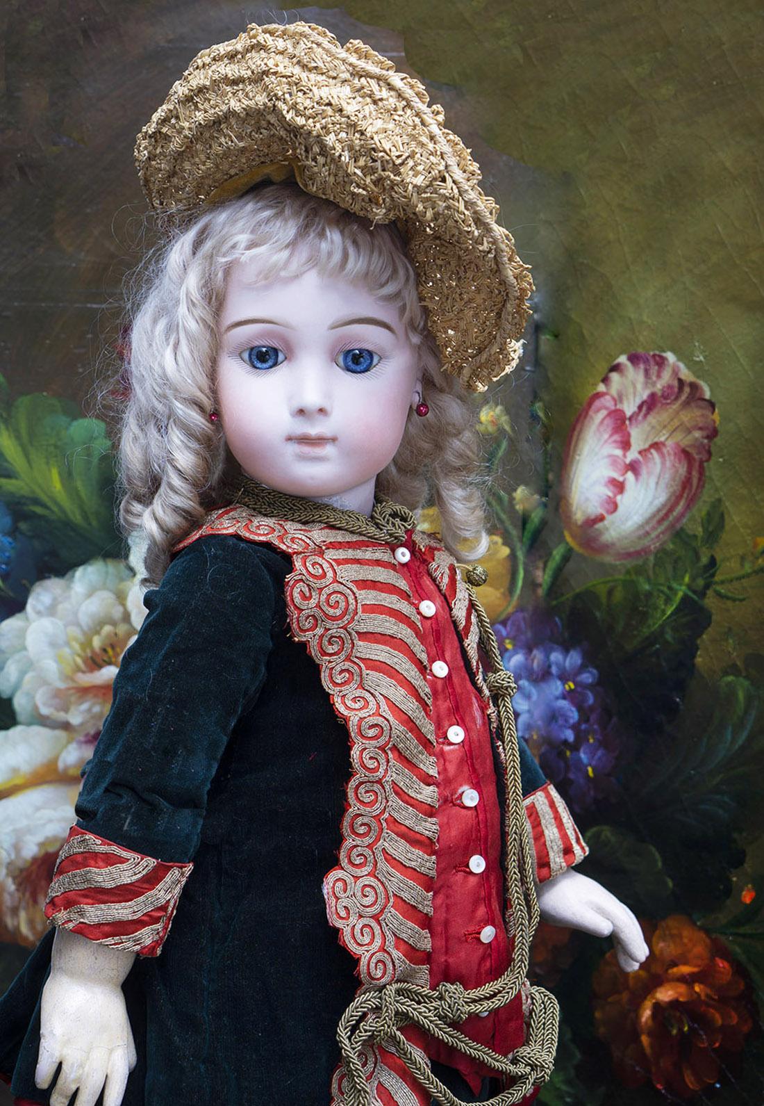 63см Редкая Французская кукла Jumeau Triste