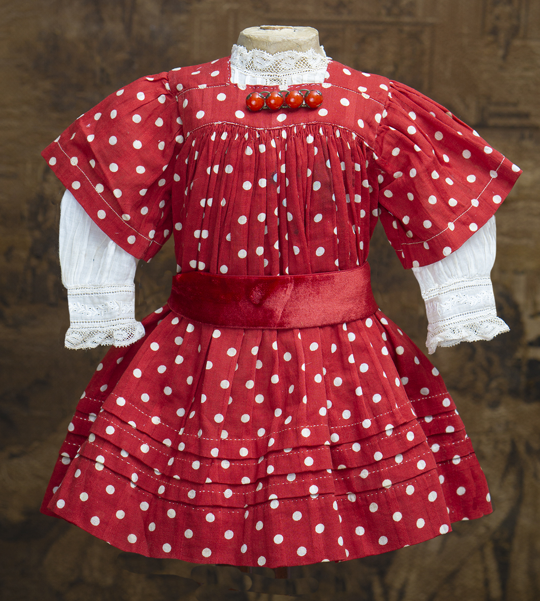 Antique dotted dress