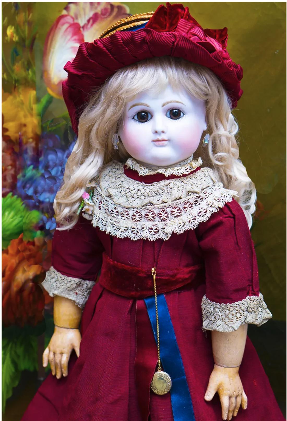 53см Pедкая французская кукла PETITE DUMOUTIER