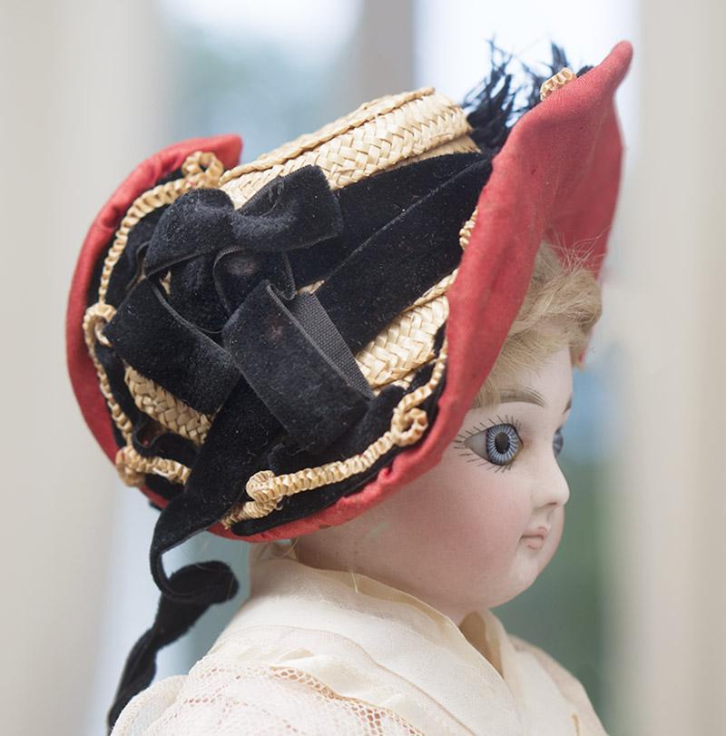 Старинный французский боннет для модной куклы