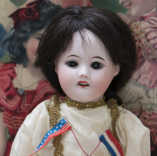 French SFBJ doll w/ unusual original costume