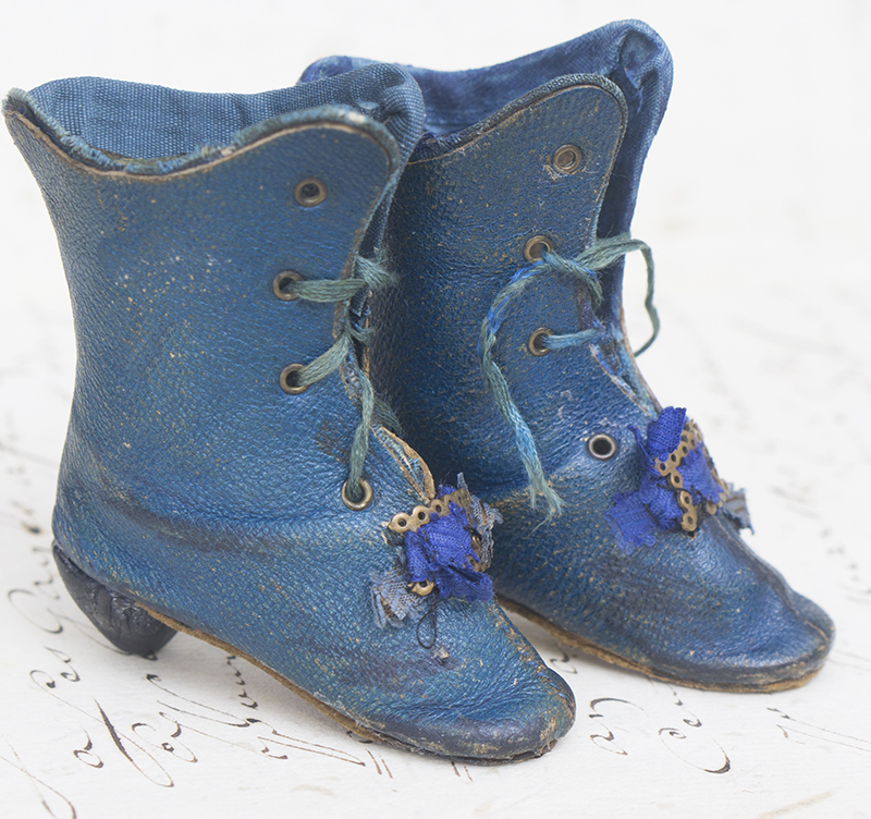 Blue fashion boots