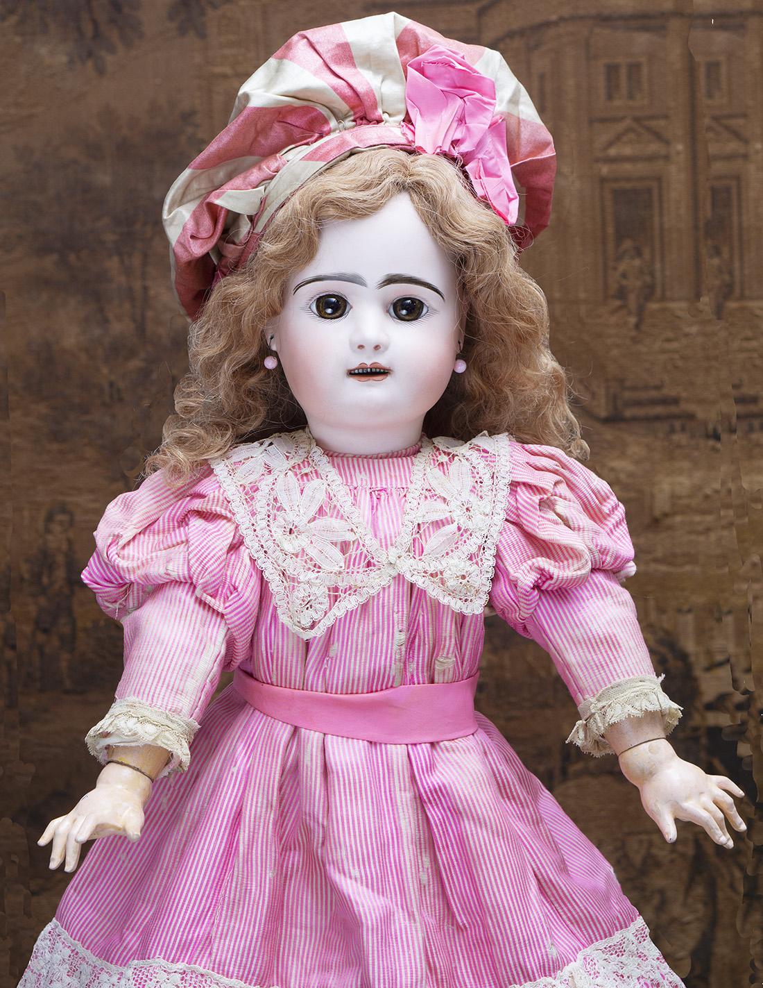 63 см  Французская Кукла Rabery & Delphieu в оригинальном платье, 1884 г.