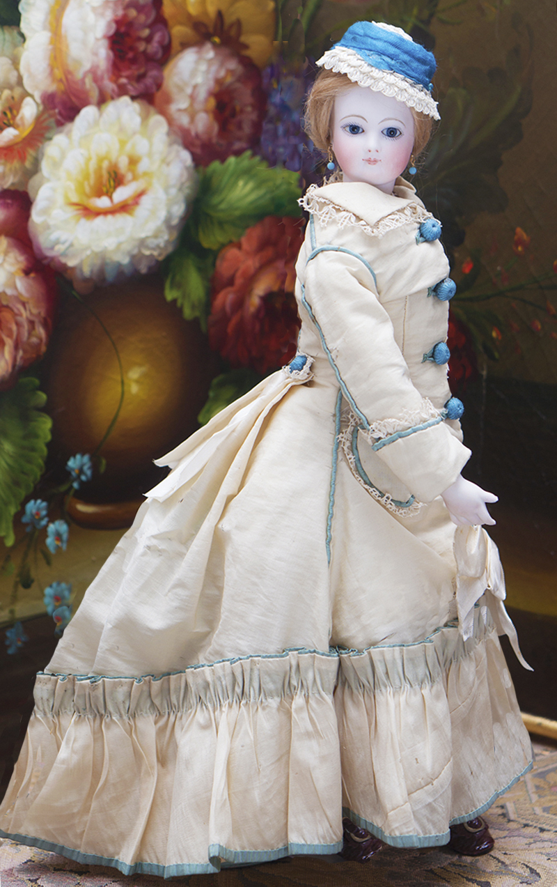 45см Модная кукла Jumeau с фарфоровыми руками, в оригинальном костюме