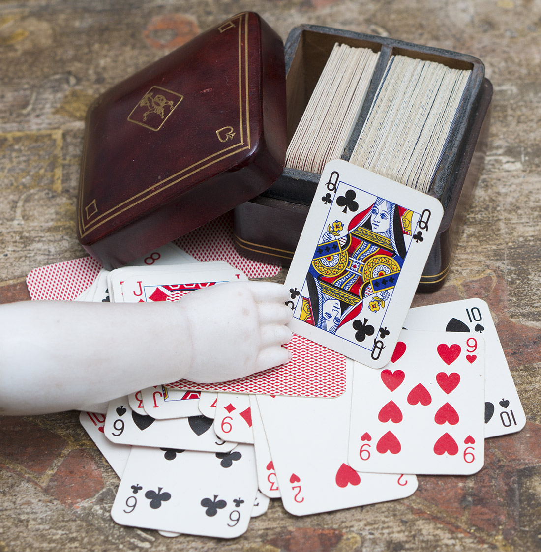 Antique play cards