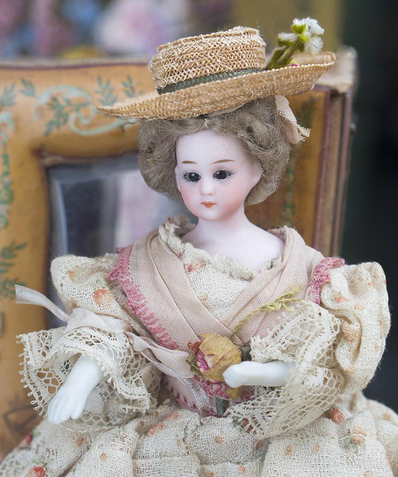 19cм Куколка-леди в оригинальном костюме, фирма Simon&Halbig, 1890е годы