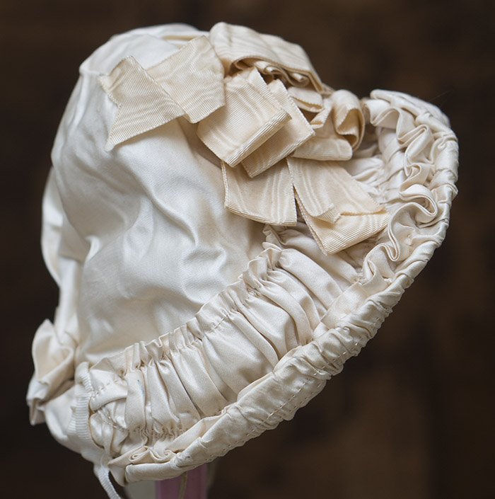 Antique SIlk Satin Bonnet