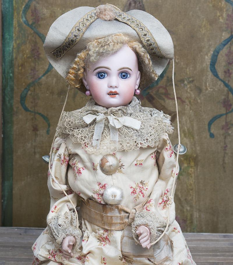 61см Кукла Jumeau  Полишинель в оригинальном костюме