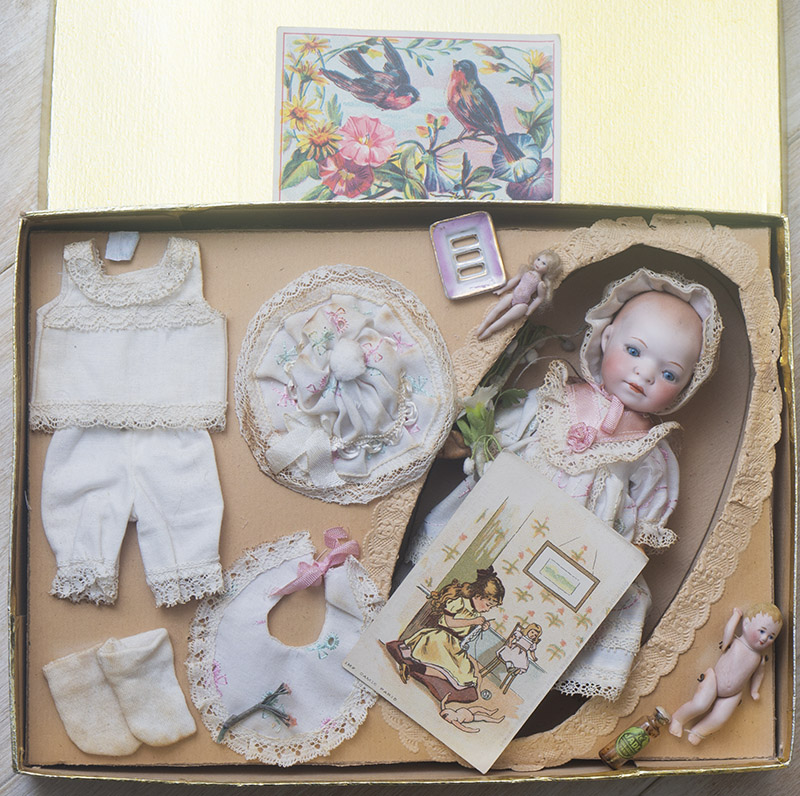 Antique German Baby doll w/box