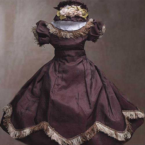 Huret style dress + bonnet