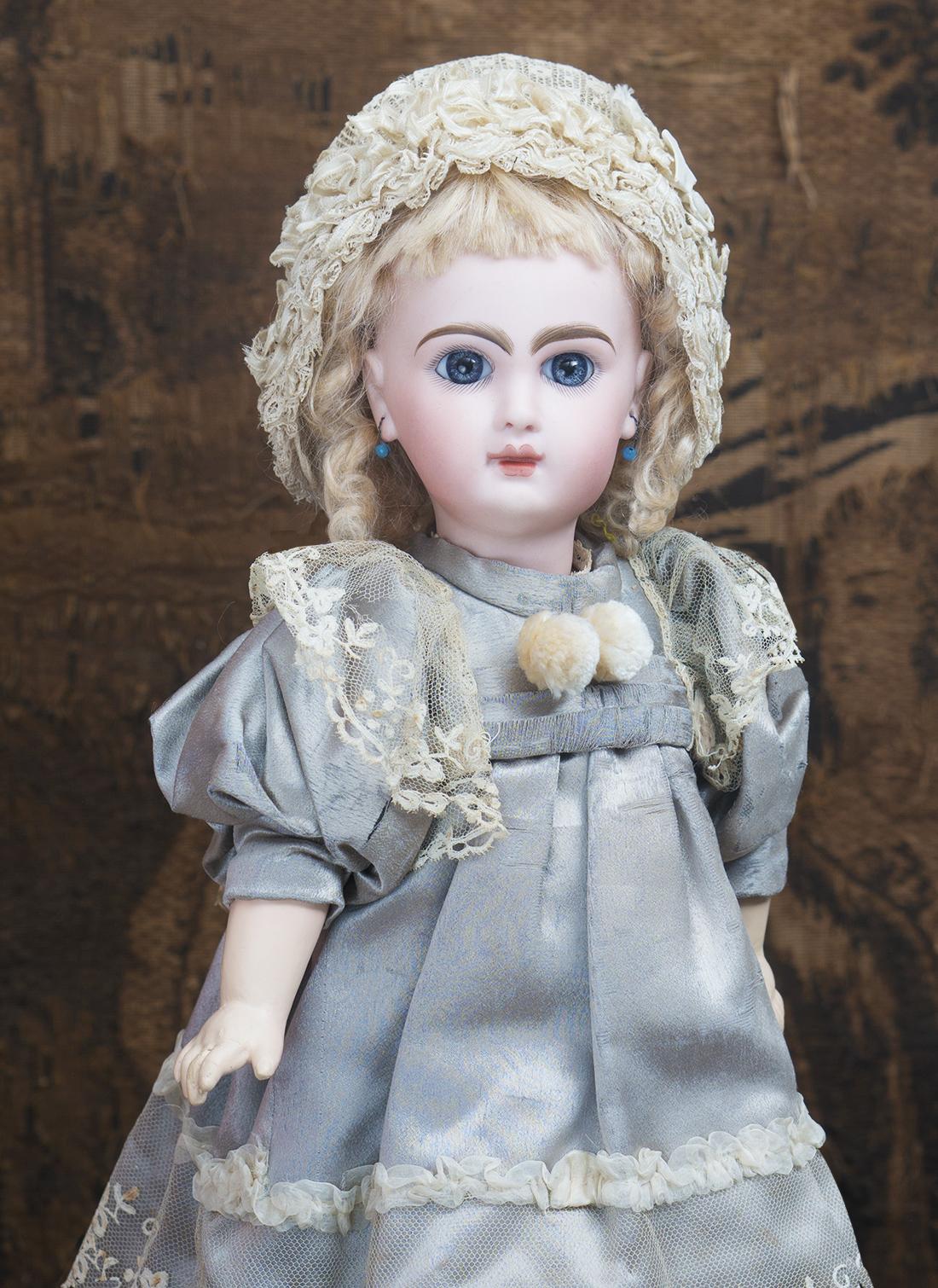 38см Jumeau Bebe  с закрытым ртом, в оригинальном платье