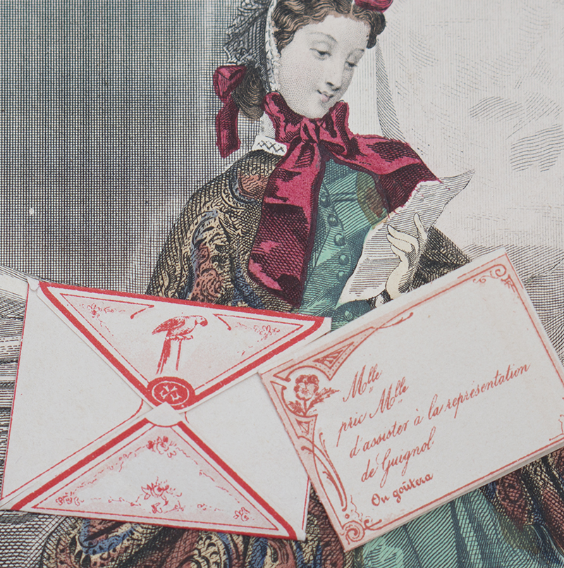 Antique fashion doll letters