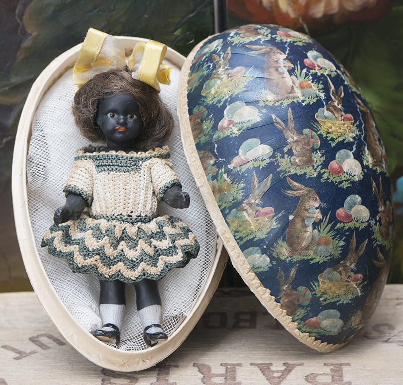 11см Черная куколка-mignonette