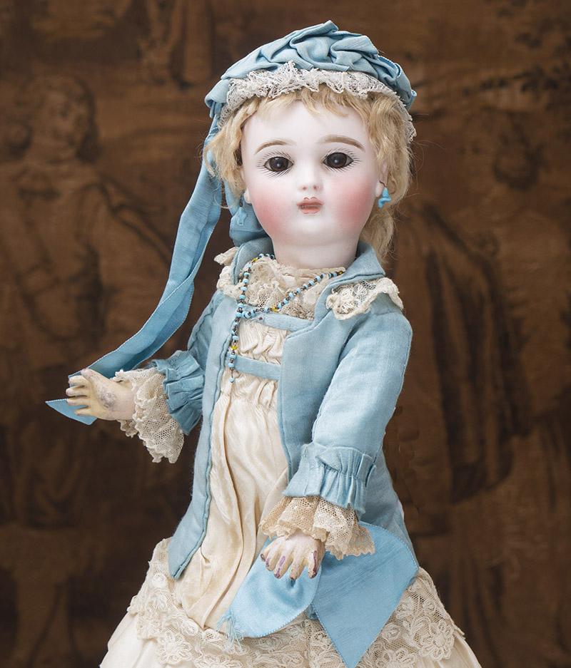 37см Редкая кукла JOANNY  в оригинальном костюме, 1880е годы