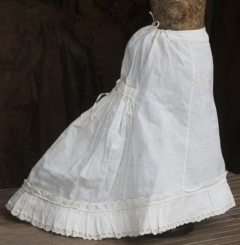 Antique fashion doll skirt
