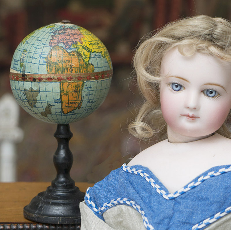 French miniature World Globe