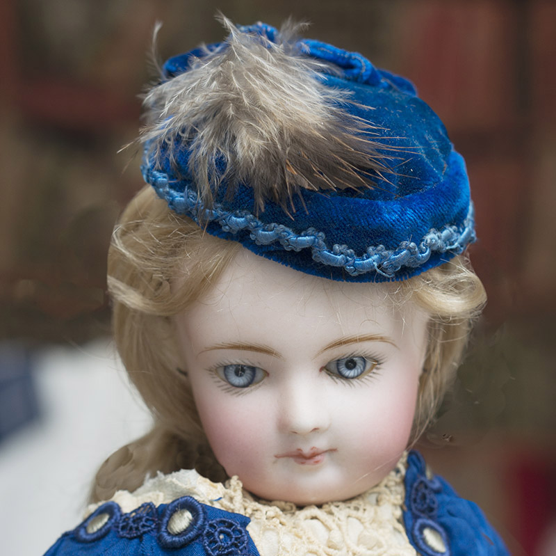 Antique French Blue hat