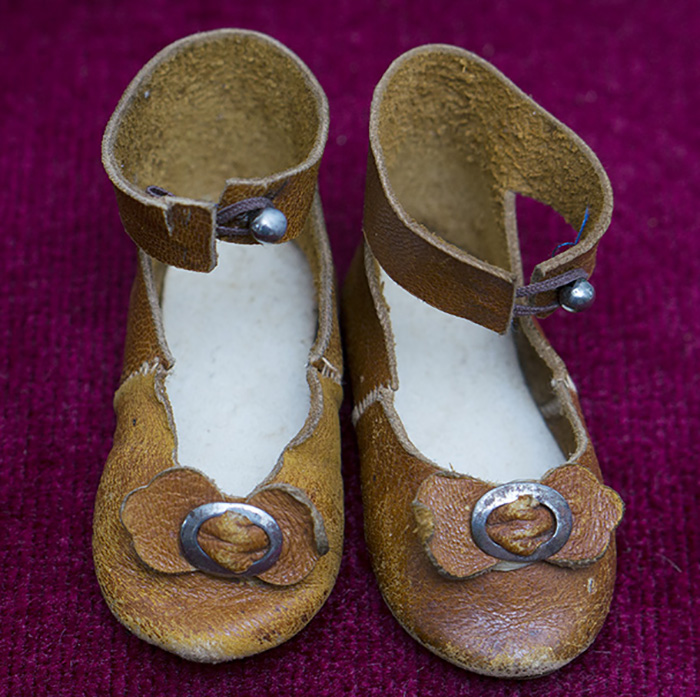 Antique Original Doll Shoes with rare mark