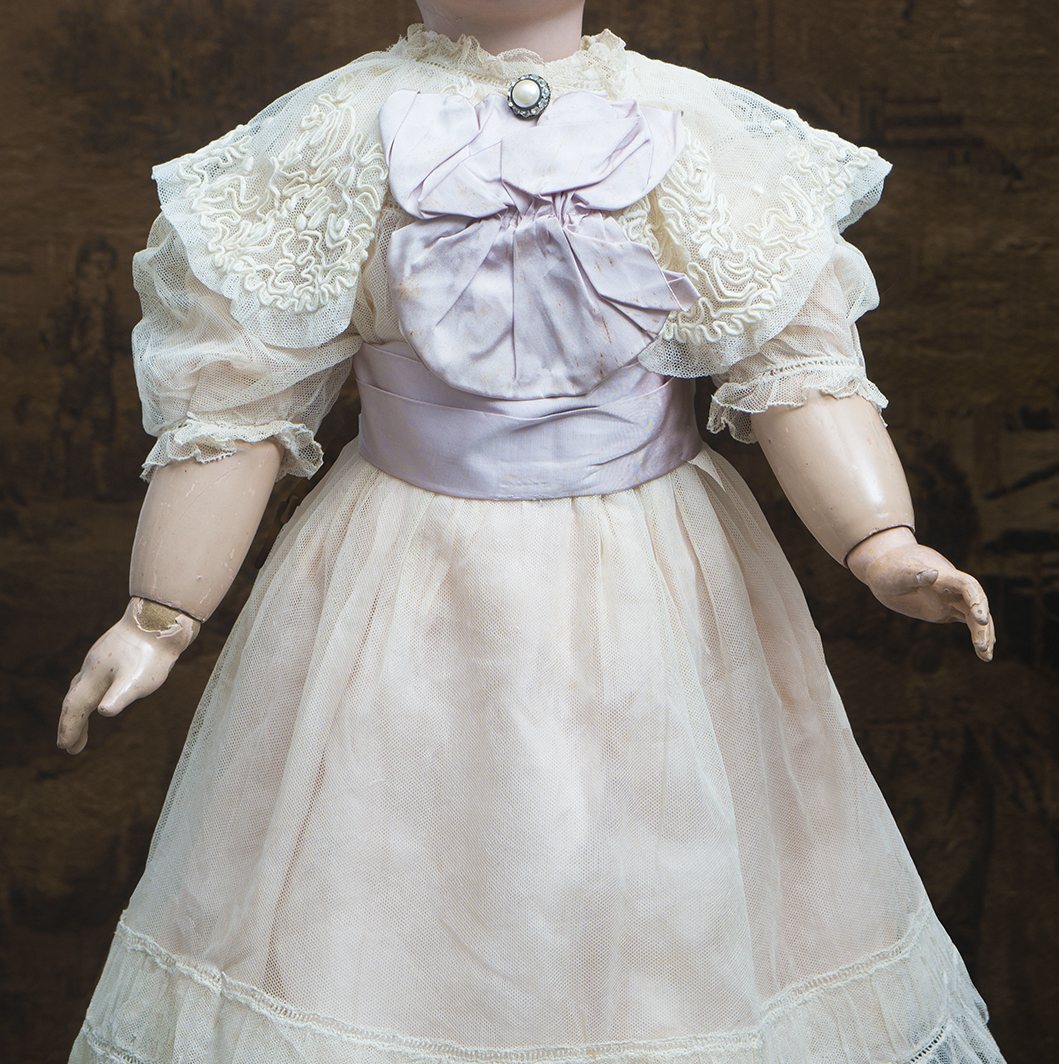 Antique Original dress for doll 25-26in