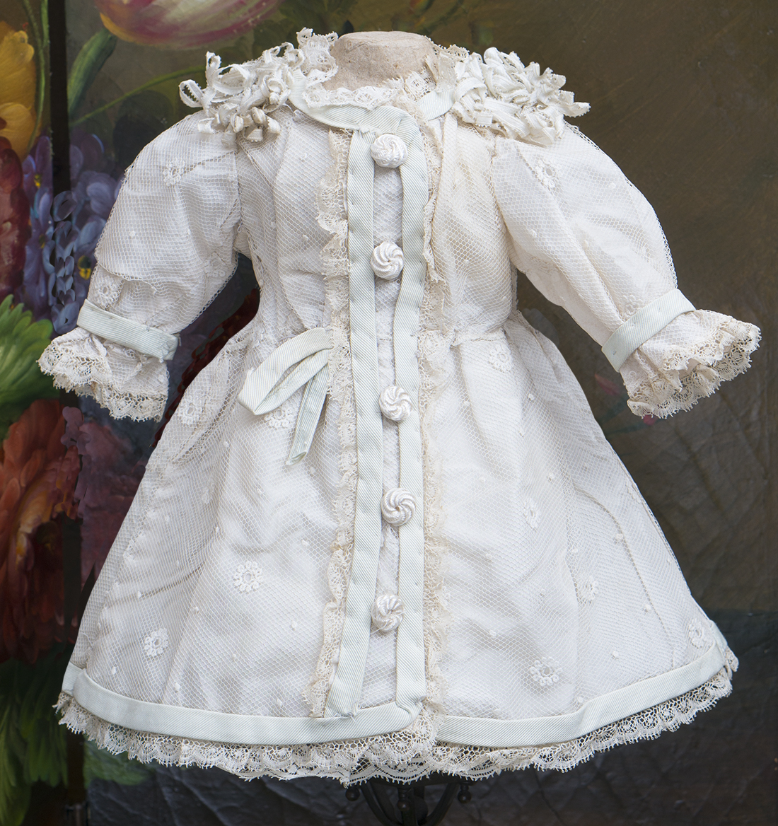 Antique dress for doll 15-16 in