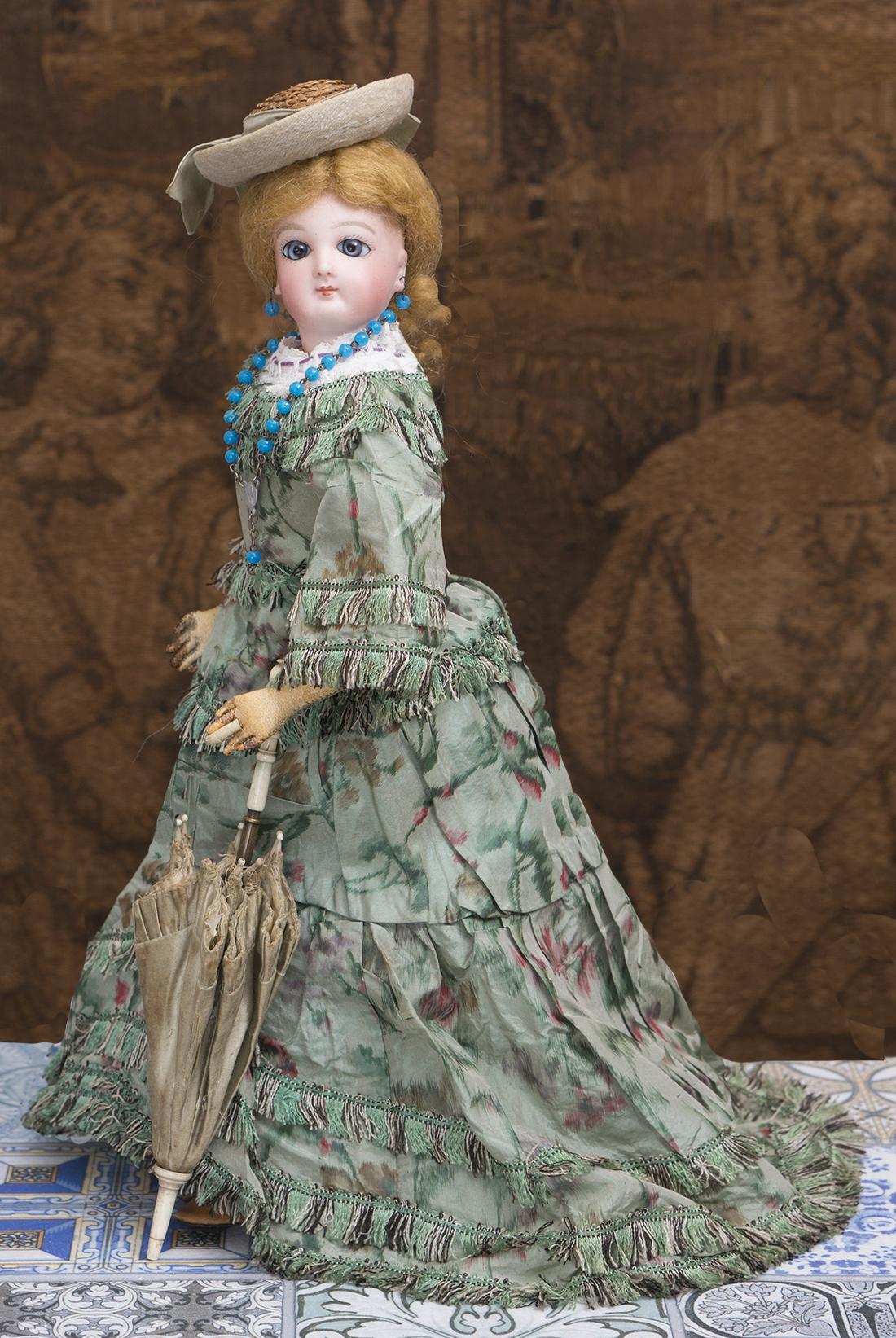 33см Модная кукла Jumeau в оригинальном платье