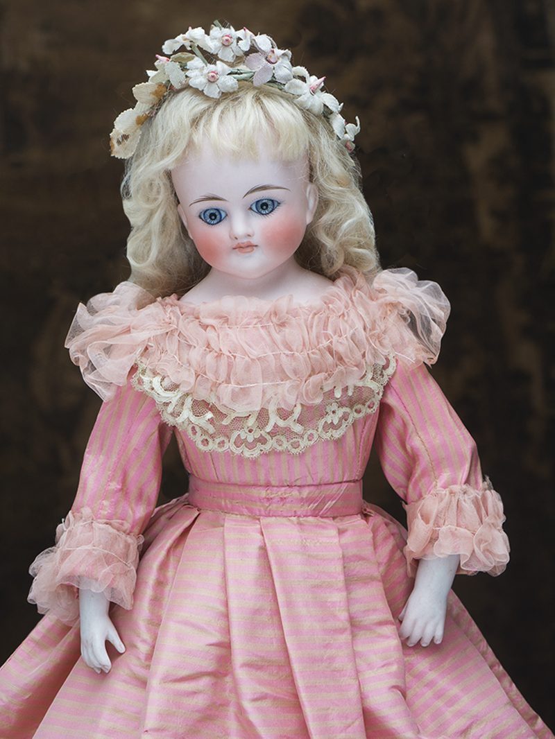 41 cм Ранняя Кукла с закрытым ртом  фирмы Кестнер, 1885г.
