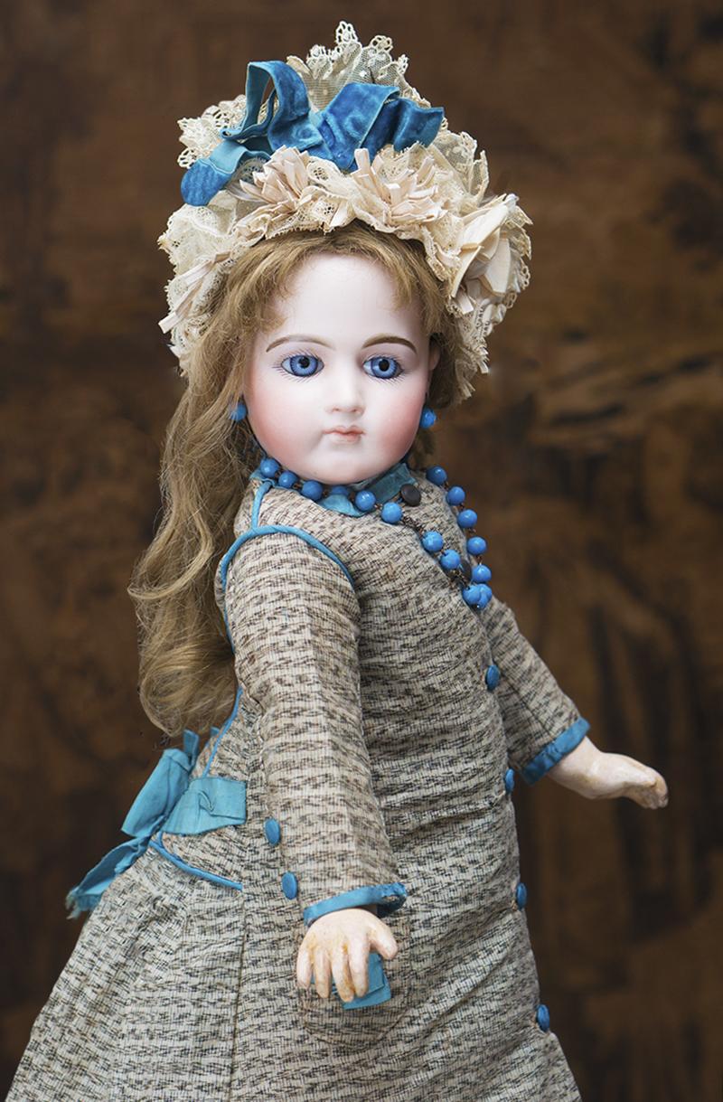 49 см Ранняя Портретная кукла JUMEAU в оригинальном костюме
