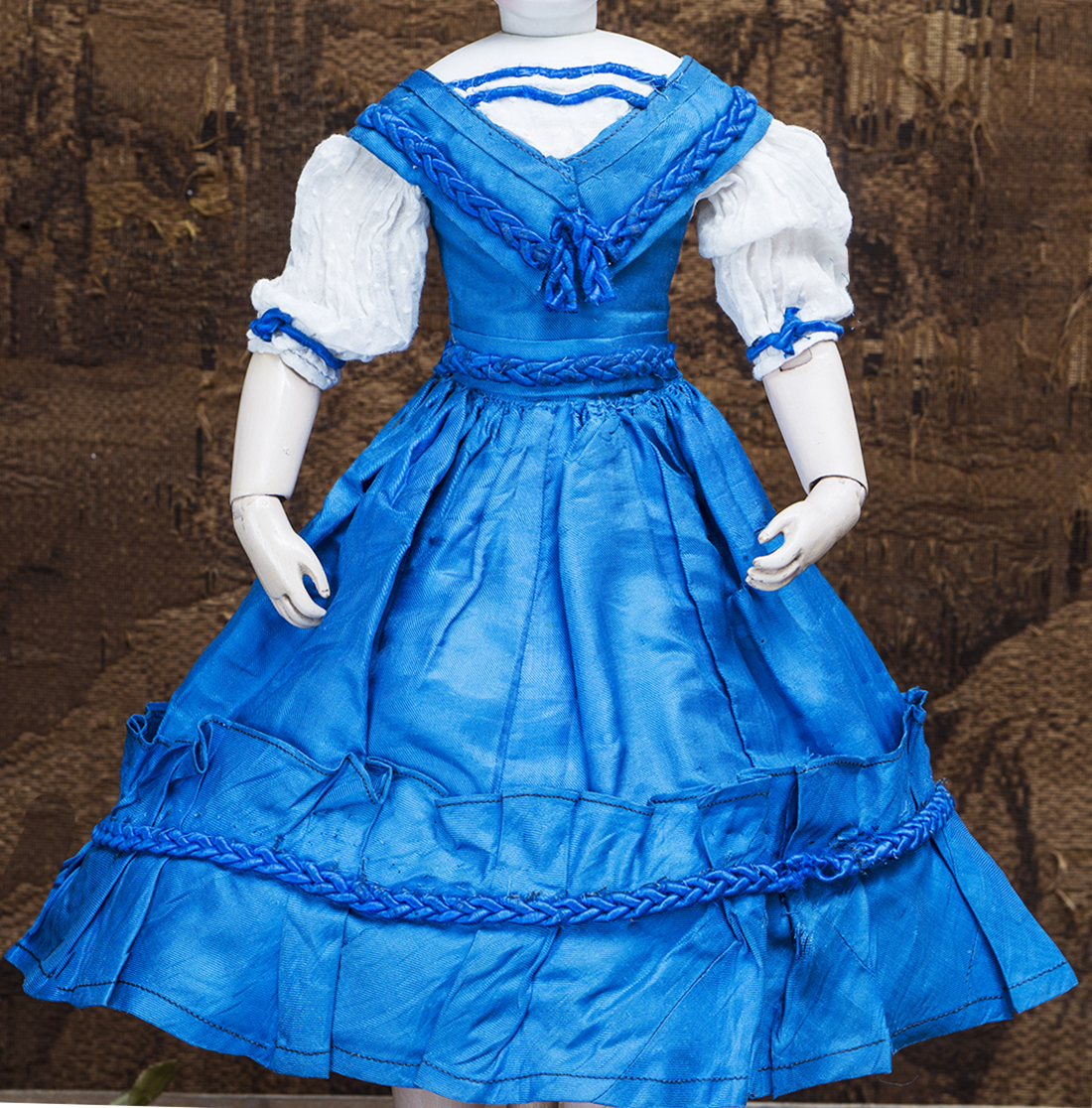 Antique doll silk dress