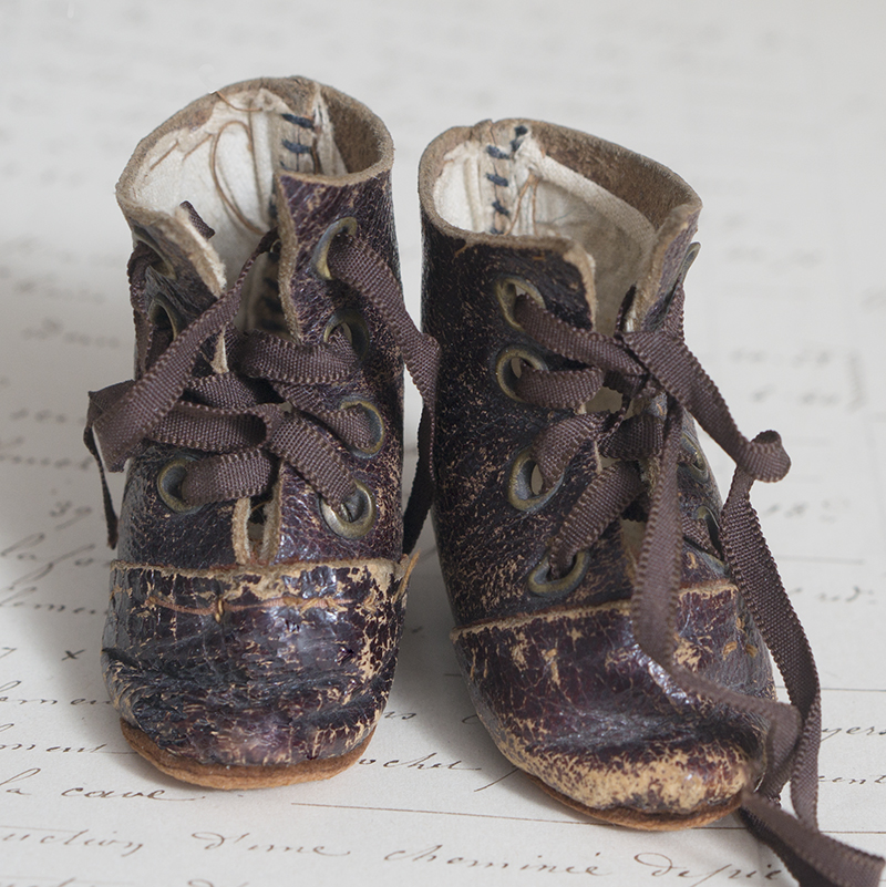 Antique doll shoes
