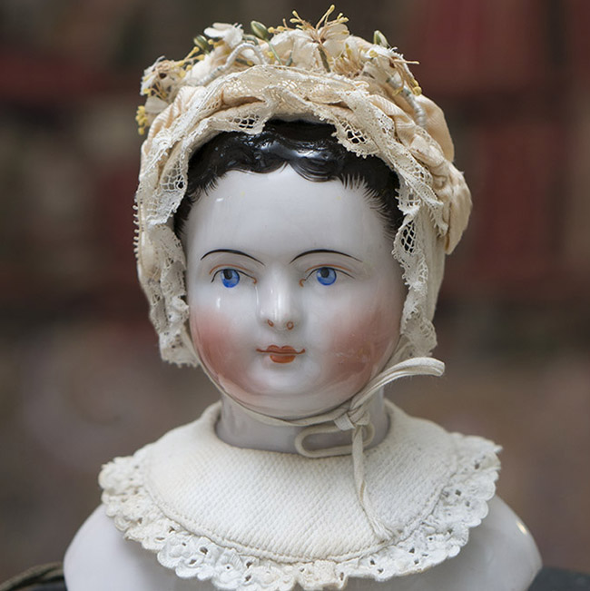 Antique Small Bonnet and Collar