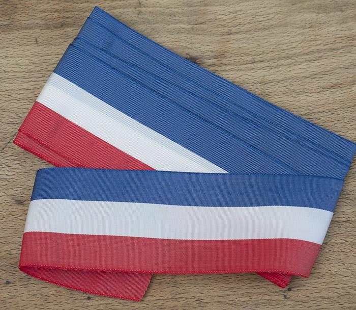 Винтажная французская лента с цветами национального флага