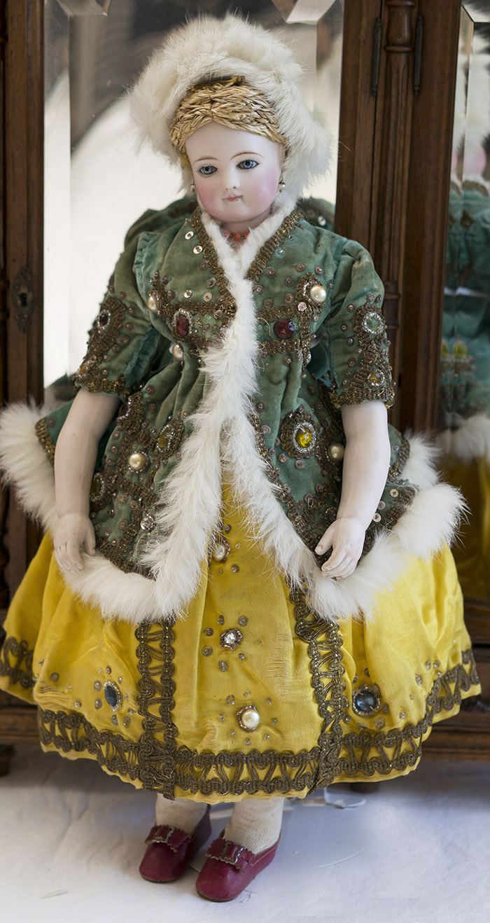 Модная французская кукла Jumeau в оригинальном русском