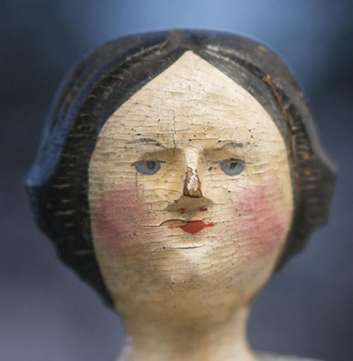 Rare Grodnertal Wooden Doll