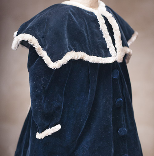 Antique Blue Velvet Coat