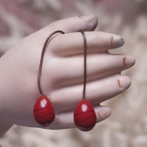 Antique Red earrings 7