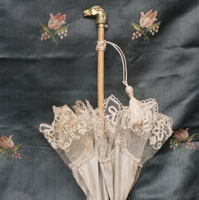 Antique Original Parasol for Jumeau bebe